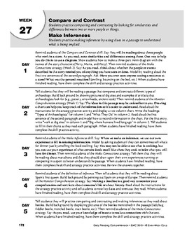 Daily Reading Comprehension, Grade 5, Weeks 26-30