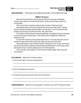 Daily Reading Comprehension, Grade 5, Weeks 6-10