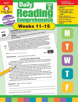 Daily Reading Comprehension, Grade 6, Weeks 11-15