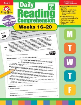 Daily Reading Comprehension, Grade 6, Weeks 16-20