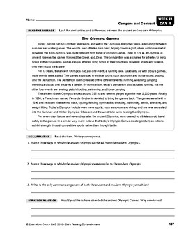 Daily Reading Comprehension, Grade 6, Weeks 21-25