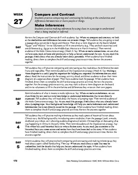 Daily Reading Comprehension, Grade 6, Weeks 26-30