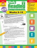 Daily Reading Comprehension, Grade 6, Weeks 6-10