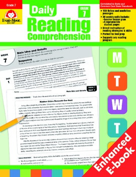Daily Reading Comprehension, Grade 7 - Teacher's Edition, E-book