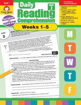 Daily Reading Comprehension, Grade 7, Weeks 1-5
