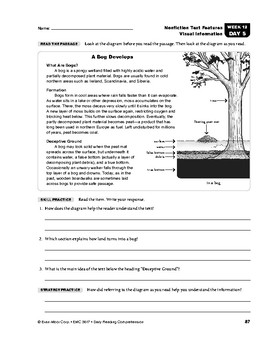 Daily Reading Comprehension, Grade 7, Weeks 11-15