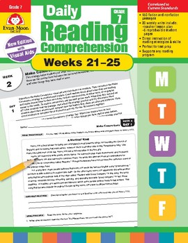 Daily Reading Comprehension, Grade 7, Weeks 21-25