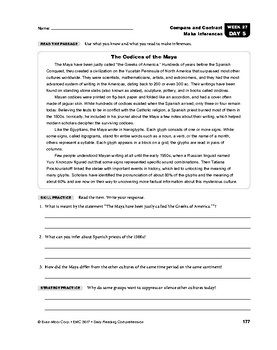 Daily Reading Comprehension, Grade 7, Weeks 26-30