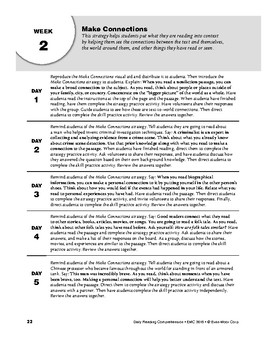 Daily Reading Comprehension, Grade 8, Weeks 1-5
