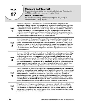 Daily Reading Comprehension, Grade 8, Weeks 26-30