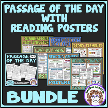 Daily Reading Comprehension Passages with Reading Strategy Posters Bundle