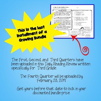 Daily Reading Comprehension Review - Fourth Quarter