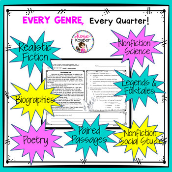 Daily Reading Comprehension Review - Third Quarter