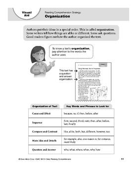 Daily Reading Comprehension Visual Aids, Grade 3