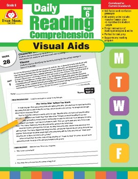 Daily Reading Comprehension Visual Aids, Grade 6