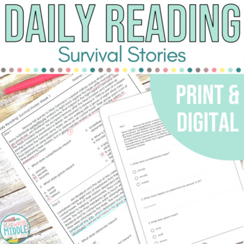 Daily Reading Context Clues Survival Stories