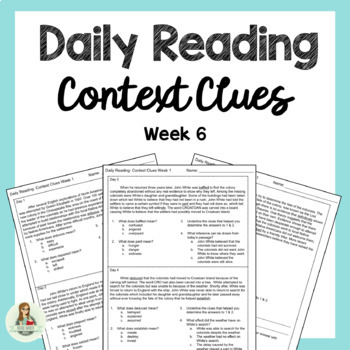 Daily Reading: Context Clues Week 6