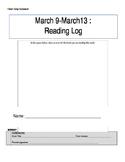 Daily Reading Homework Log