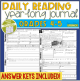 Daily Reading Journal: Grades 4-5