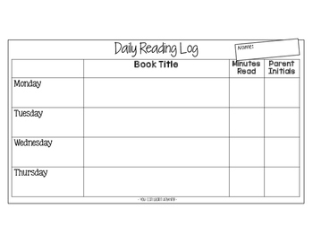Daily Reading Log {FREE}