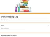 Daily Reading Log 4th Grade Digital