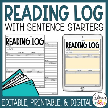 picture relating to Reading Log With Summary Printable known as Looking through Log with Conclusion - Editable