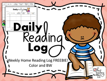 Reading Log - FREEBIE!