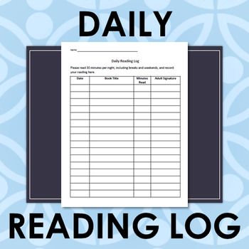 Daily Reading Log (elementary)