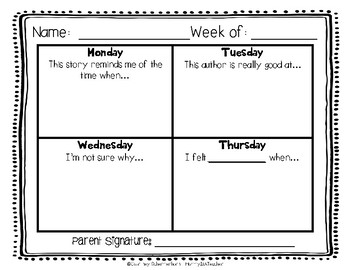 Daily Reading Logs for Fiction & Non-Fiction - 36 Weeks of Each! {Grades 2-3}