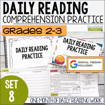 Daily Reading Morning Work Grades 2-3 Set 8