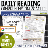 HALF OFF first 48 hours! Daily Reading Morning Work: Grades 4-5 GROWING Bundle