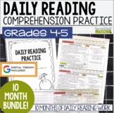 Daily Reading Morning Work: Grades 4-5 Bundle