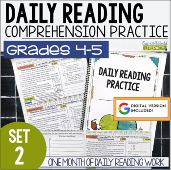 Daily Reading Morning Work: Grades 4-5 Set 2