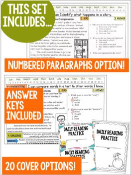 Daily Reading Morning Work: Grades 4-5 Set 5