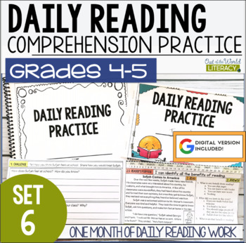 Daily Reading Morning Work: Grades 4-5 Set 6