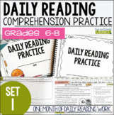Daily Reading Morning Work Grades 6-8: Set One