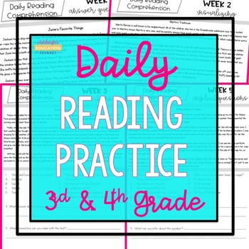Daily Reading Practice {3rd & 4th Grade}