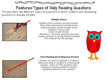 Daily Reading Practice Grade 4 (35 Full Weeks)