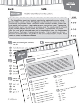 Daily Reading Practice for Sixth Grade