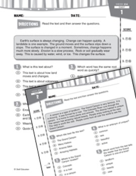 Daily Reading Practice for Third Grade