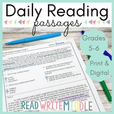 Daily Reading Comprehension Passages & Questions Grades 5-6