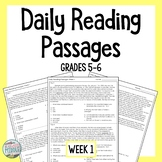 Daily Reading Comprehension Passages & Questions Week 1