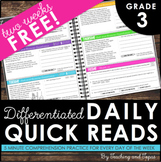 Daily Reading Warm-Ups {Differentiated} 3rd GRADE - FREEBIE!
