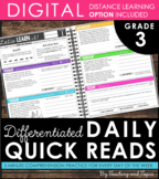 Daily Reading Warm-Ups {Differentiated} 3rd GRADE with DIS