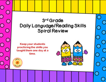 Daily Reading and Language Practice: A Complete 3rd-Grade Year