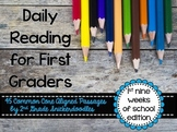 Daily Reading for First Graders {1st Nine Weeks Edition}