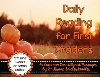 Daily Reading for First Graders {2nd Nine Weeks Edition}