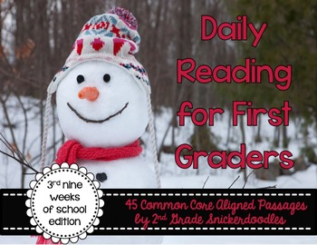 Daily Reading for First Graders {3rd Nine Weeks Edition}