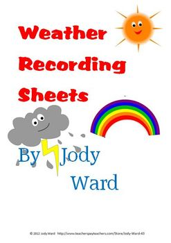 Weather - Daily Recording Sheet for Recording Weather