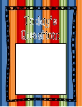 Daily Reflection Bubbles & Today's Question: 2nd Grade Sign Out